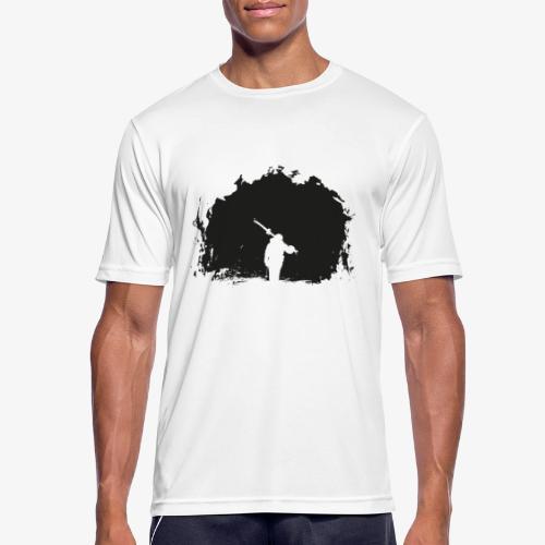 Esquiador - Skiier on the night - Men's Breathable T-Shirt