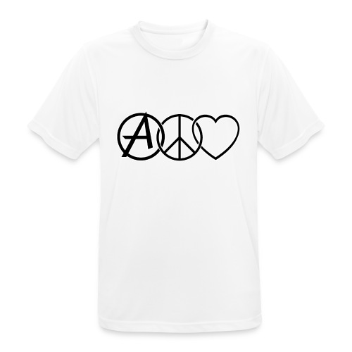 ANARCHY PEACE & LOVE - Men's Breathable T-Shirt