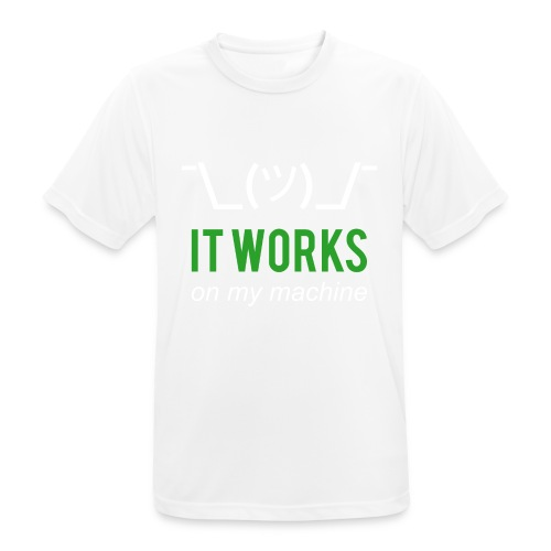 It works on my machine Funny Developer Design - Men's Breathable T-Shirt