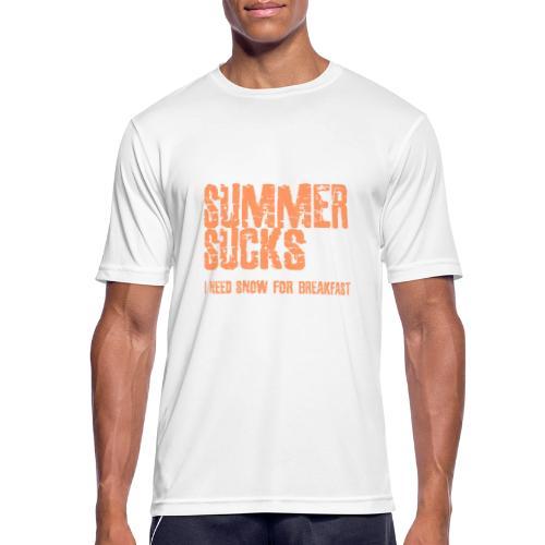 SUMMER SUCKS - Mannen T-shirt ademend