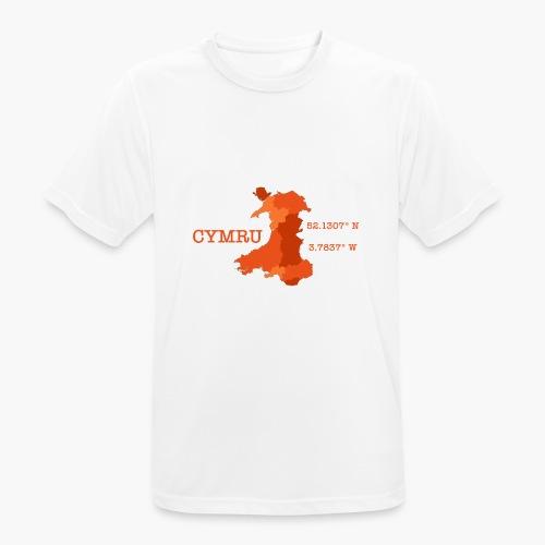 Cymru - Latitude / Longitude - Men's Breathable T-Shirt