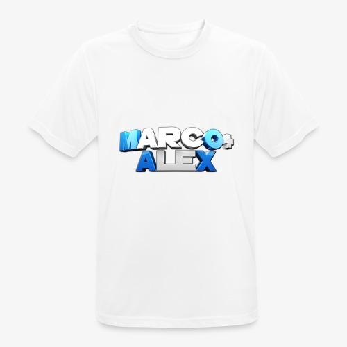 Logo Marco+Alex - Maglietta da uomo traspirante
