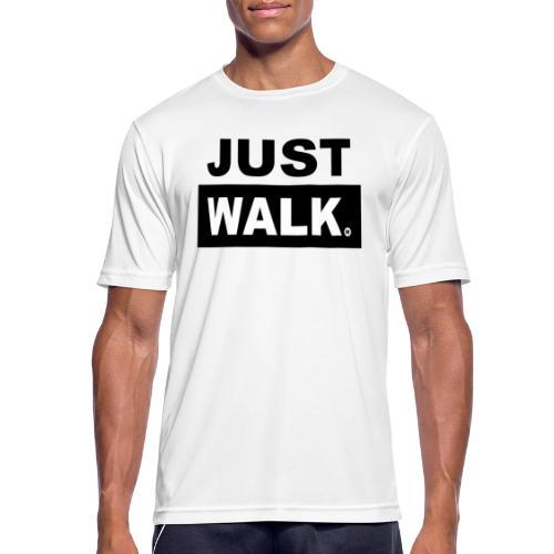 JUST WALK mannen zw - Mannen T-shirt ademend actief