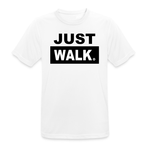 JUST WALK mannen zw - mannen T-shirt ademend
