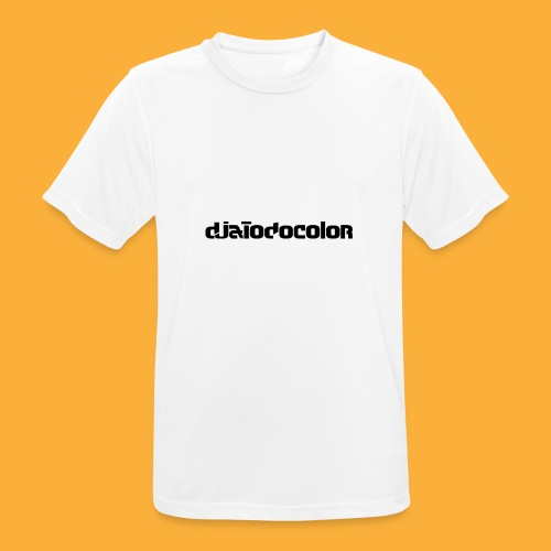 DJATODOCOLOR LOGO NEGRO - Camiseta hombre transpirable