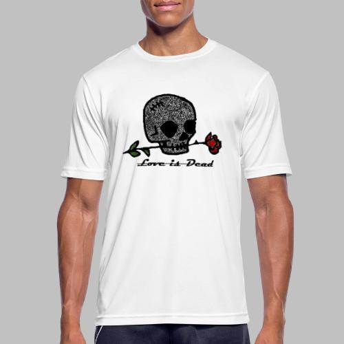Love Is Dead Custom Skull Design - Mannen T-shirt ademend actief