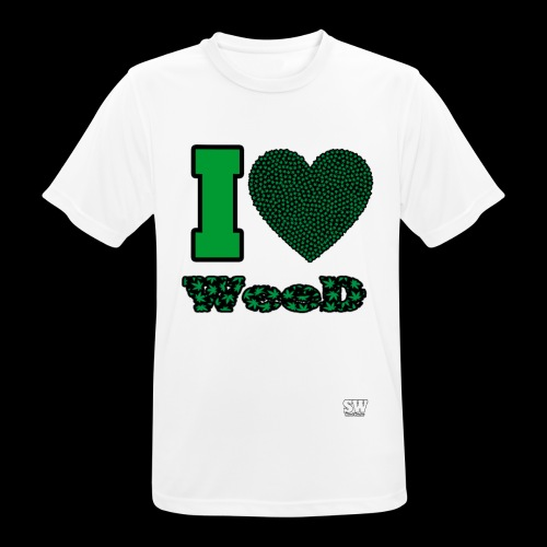 I Love weed - T-shirt respirant Homme