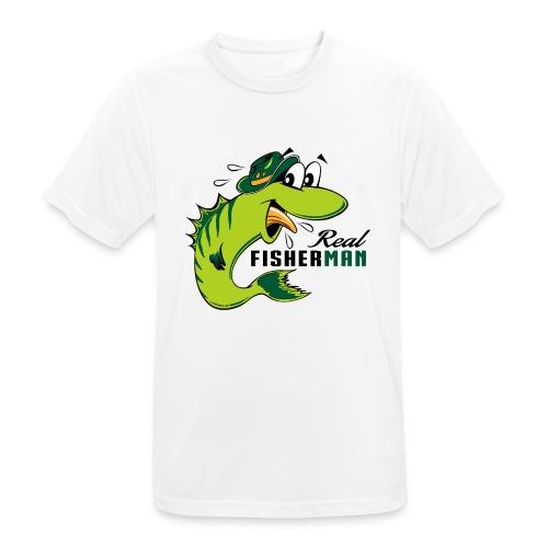 10-38 REAL FISHERMAN - TODELLINEN KALASTAJA - miesten tekninen t-paita