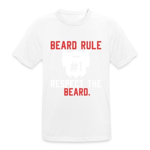 BEARD RULE 1 RESPECT THE RULE - Bart-Regel #1 - Männer T-Shirt atmungsaktiv