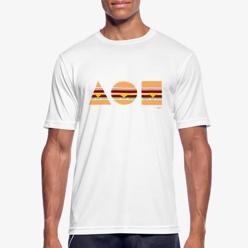 Graphic Burgers - Maglietta da uomo traspirante