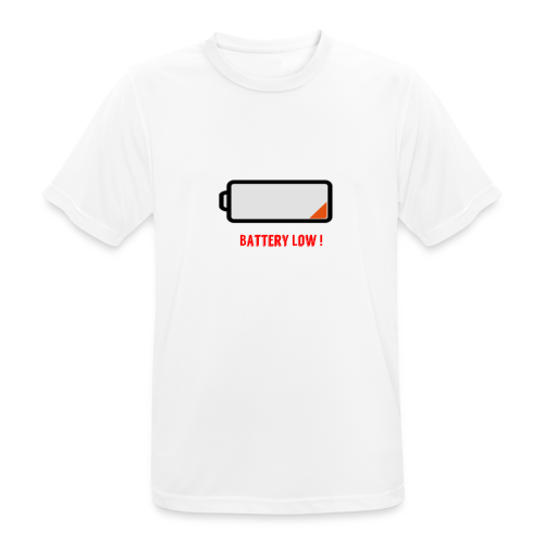 Battery Low - Männer T-Shirt atmungsaktiv