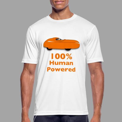 100% human powered - miesten tekninen t-paita