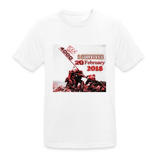 I survived february 20th red - miesten tekninen t-paita