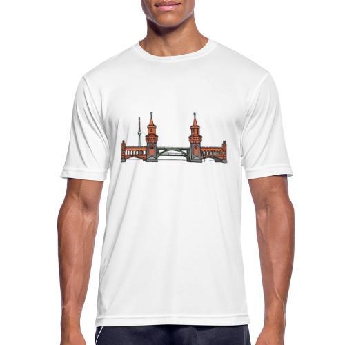 Oberbaumbrücke w Berlinie c - Koszulka męska oddychająca