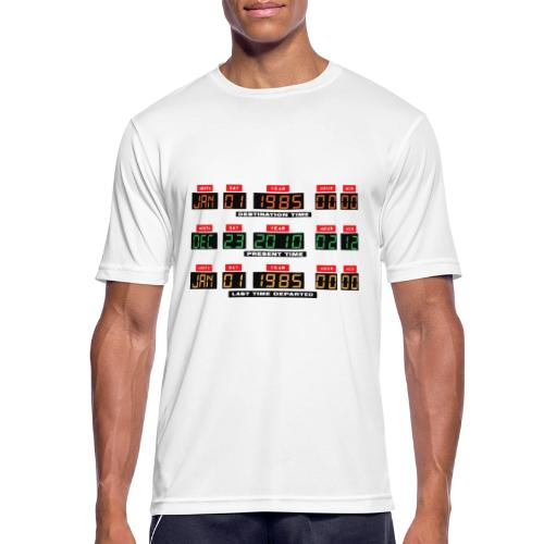 Back To The Future DeLorean Time Travel Console - Men's Breathable T-Shirt