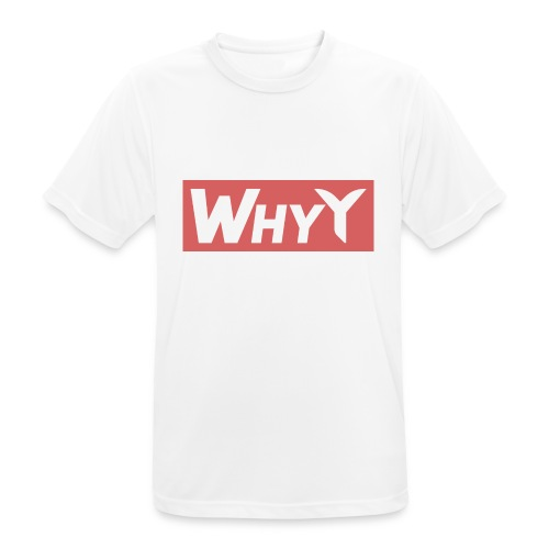 Block Red | WhyY - Men's Breathable T-Shirt