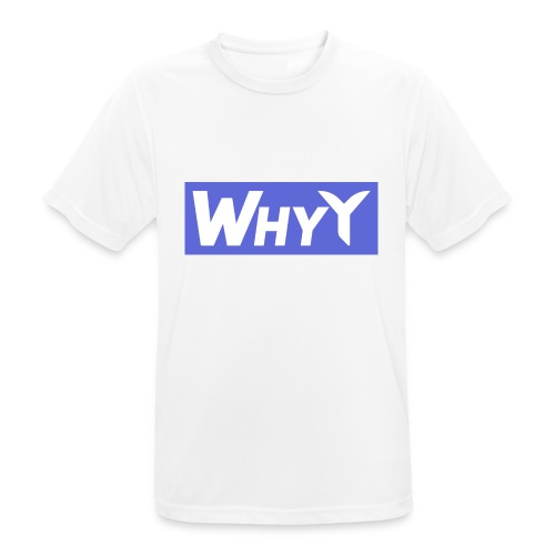 Block Blue | WhyY - Men's Breathable T-Shirt