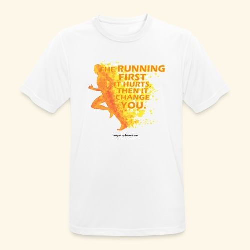 Motivo _ The Running First it Hurts - Maglietta da uomo traspirante