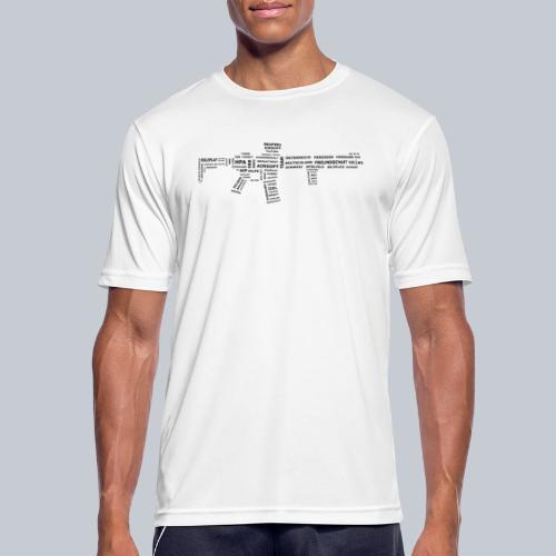 TXT RIFLE (BLACK) - REAPERs Airsoft - Männer T-Shirt atmungsaktiv