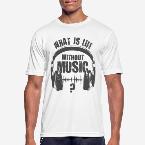 Musik ist Leben - Männer T-Shirt atmungsaktiv