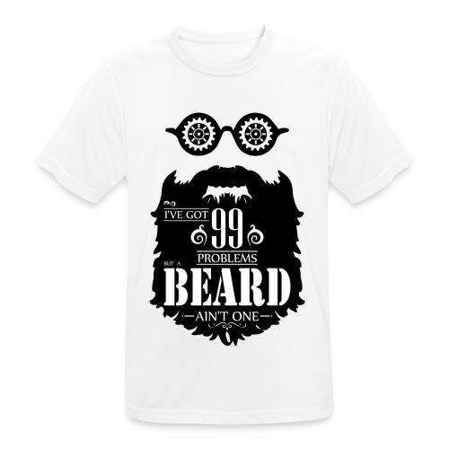 99 Problems Beard - miesten tekninen t-paita
