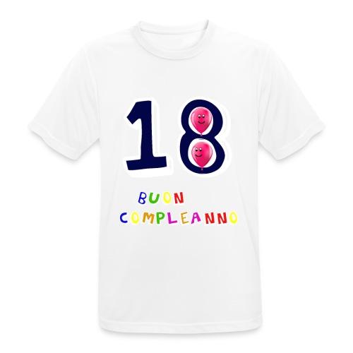18 BUON compleanno - Maglietta da uomo traspirante