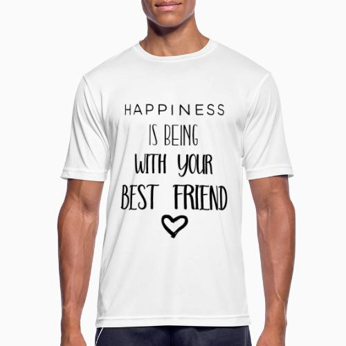 Happiness black edition - Men's Breathable T-Shirt