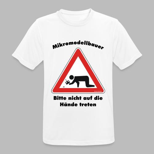 Mikromodell Warnschild Hände - Männer T-Shirt atmungsaktiv