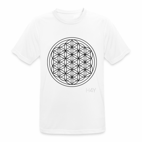 Flower Of Life - This Design Will Heal You - Herre T-shirt svedtransporterende