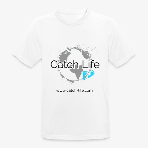 Catch Life Logo - Men's Breathable T-Shirt