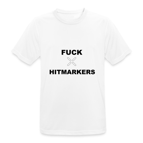 Fuck Hitmarkers Design - Men's Breathable T-Shirt