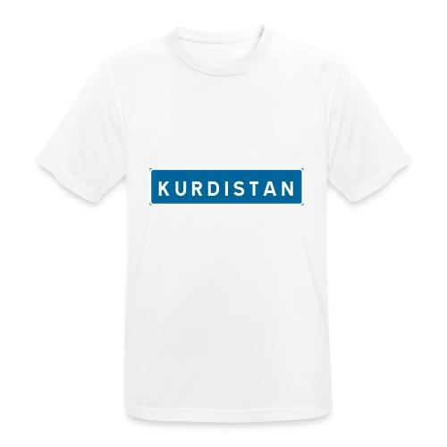 Kurdistanskylt - Andningsaktiv T-shirt herr