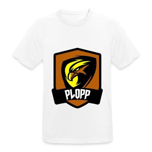 Plopp T-Shirt Emblem Vit - Andningsaktiv T-shirt herr