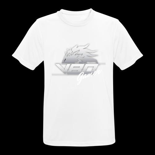logo lionheartv80 chiaro trasparente - Maglietta da uomo traspirante