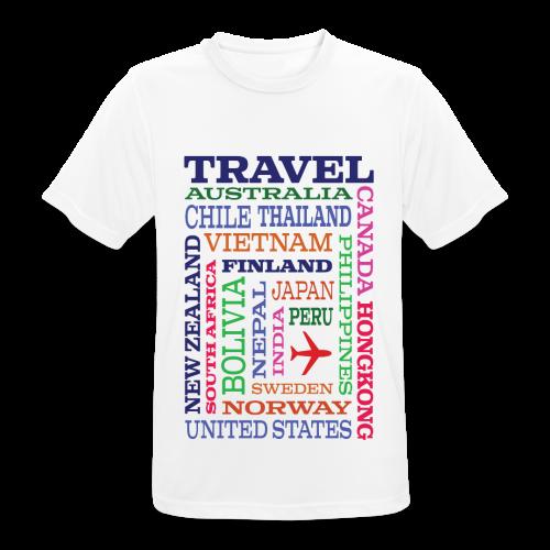 Travel Places design - miesten tekninen t-paita