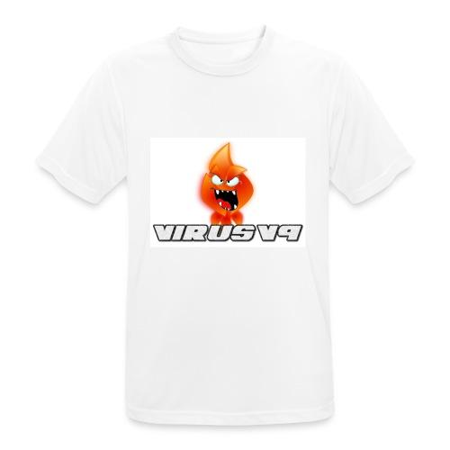 Virusv9 Weiss - Männer T-Shirt atmungsaktiv