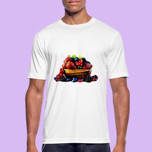 frutti di bosco - Maglietta da uomo traspirante