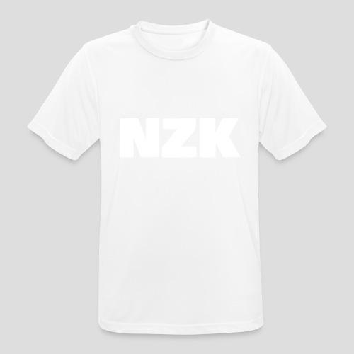 NZK logo - mannen T-shirt ademend