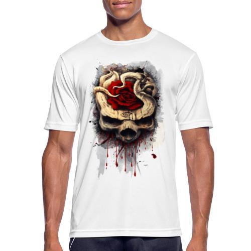 skull rose - Camiseta hombre transpirable
