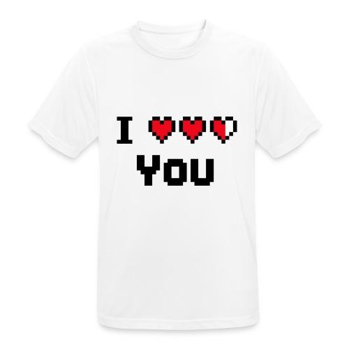 I pixelhearts you - Mannen T-shirt ademend actief