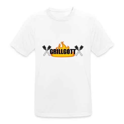 Grillgott Meister des Grillens - Männer T-Shirt atmungsaktiv