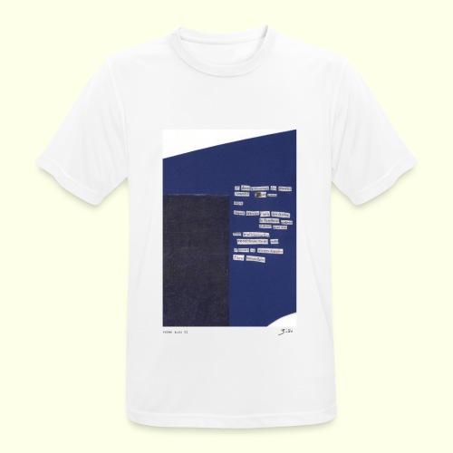 poème bleu 01 - T-shirt respirant Homme
