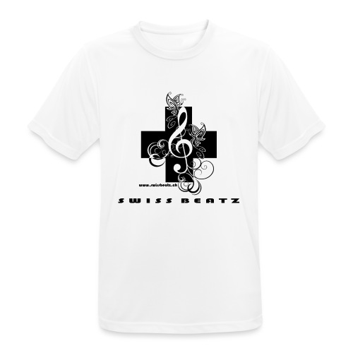 Swiss Beatz Logo with L - Männer T-Shirt atmungsaktiv