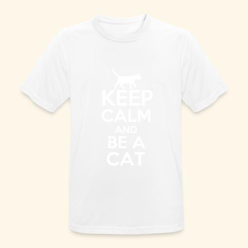 Keep Calm Katzen T-Shirt Englisch - Männer T-Shirt atmungsaktiv