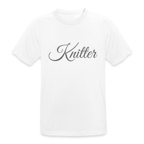 Knitter, dark gray - Men's Breathable T-Shirt