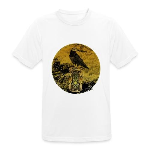 'Memento Mori', round w. logo by BlackenedMoonArts - Herre T-shirt svedtransporterende