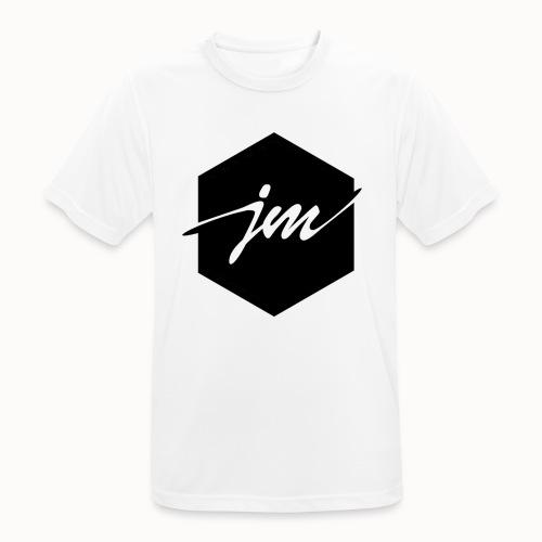 JMclothing | Blank Black - Andningsaktiv T-shirt herr