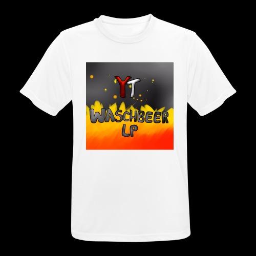 Waschbeer Design 2# Mit Flammen - Männer T-Shirt atmungsaktiv