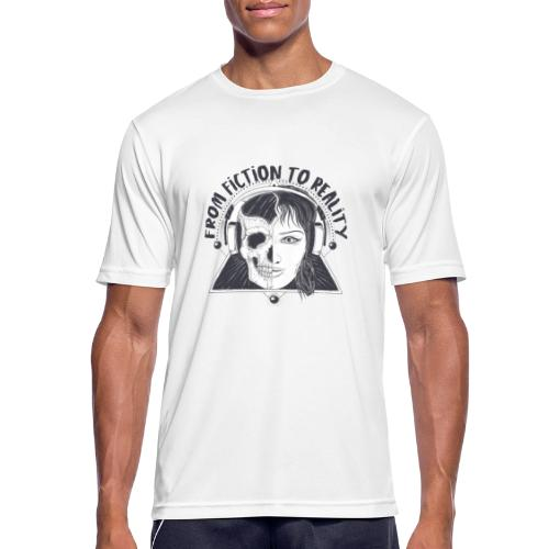 ''From Fiction To Reality'' Merchandise - Mannen T-shirt ademend actief