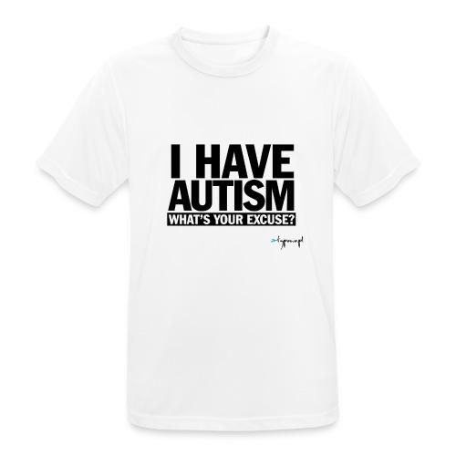 I have autism... (black) - Koszulka męska oddychająca